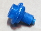 NOS Translucent BLUE button, short, 3 spoke version